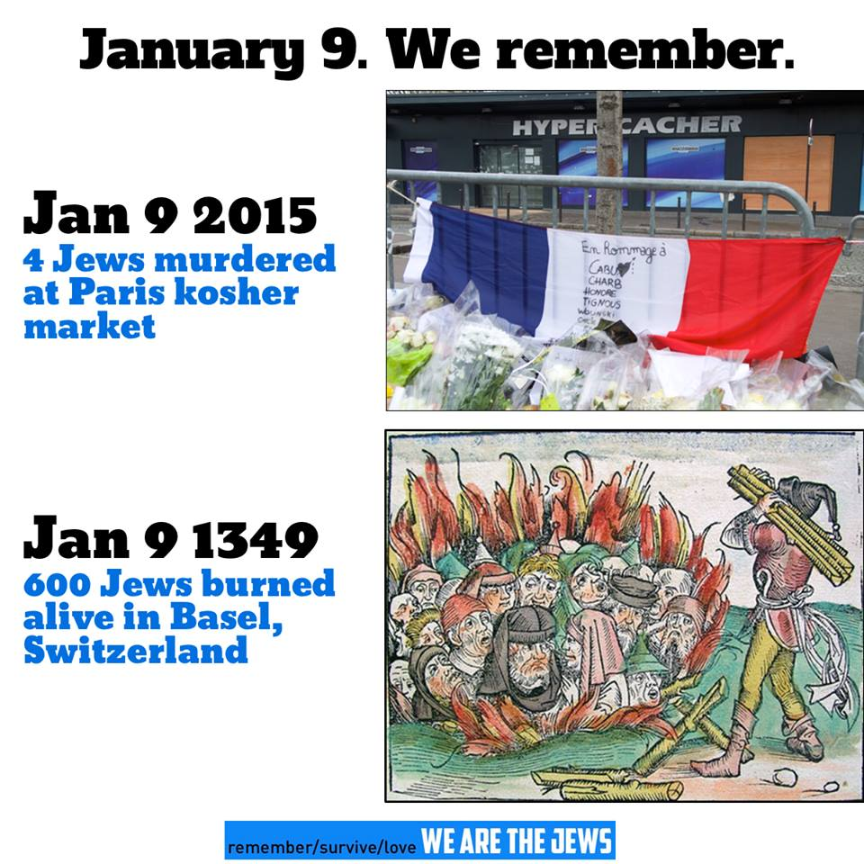 January 9 Jews killed Paris Basel