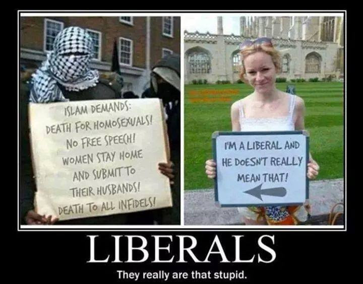 Liberals are that stupid about Islamists