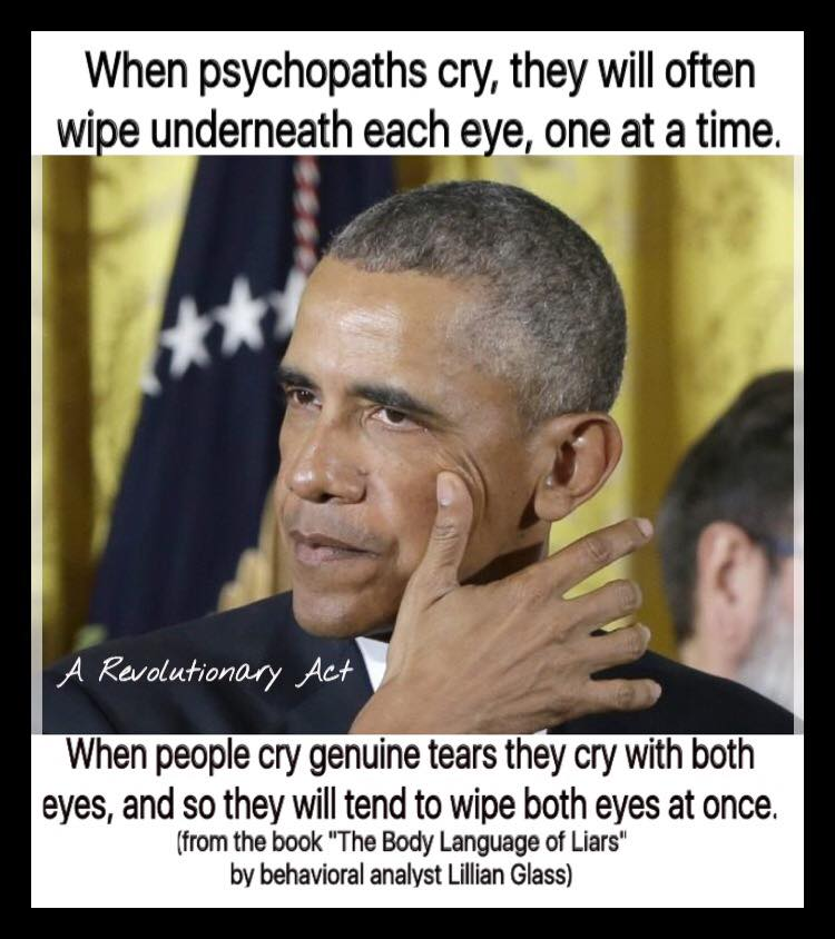 Obama cries like a psychopath