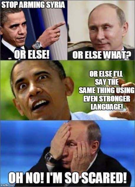 Obama threatening Putin