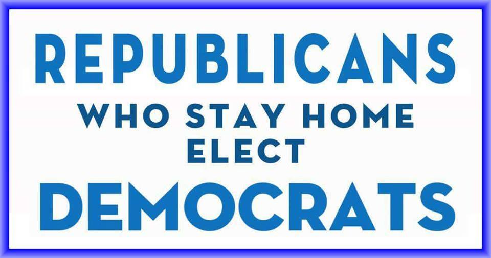 Republicans who stay home elect Democrats