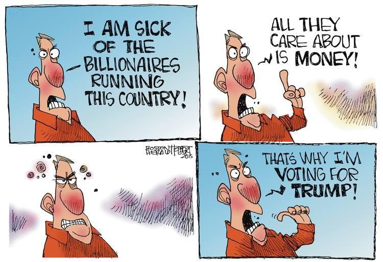 Trump voter against billionaires