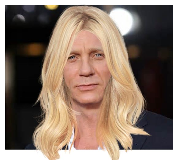 Jamesina Bond Daniel Craig in wig