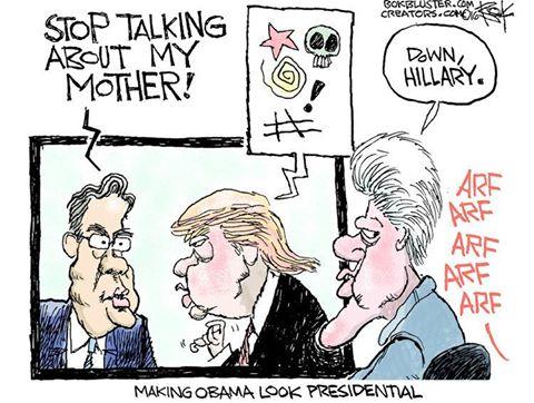 Making Obama look presidential