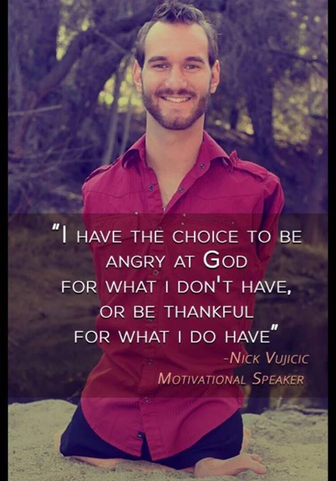 Nic Vujicic on gifts