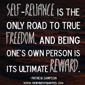 Self reliance quotation