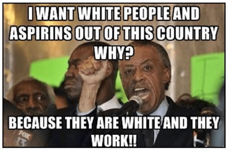Sharpton on white people and aspirin