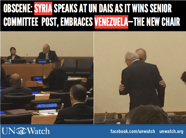 Syria and Venezuela at the UN
