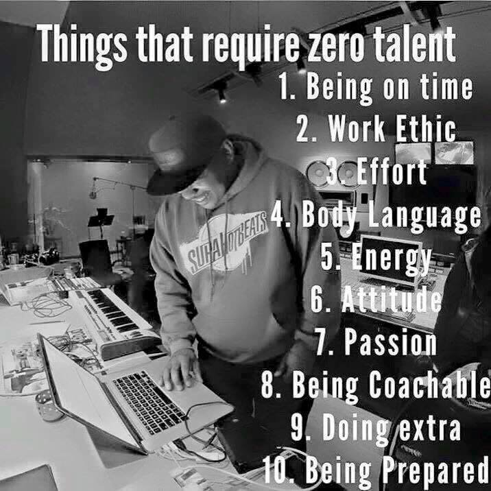 Virtues that require zero talent just effort