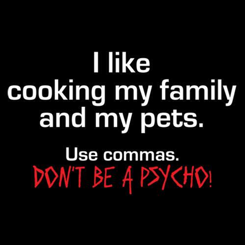 Commas are useful