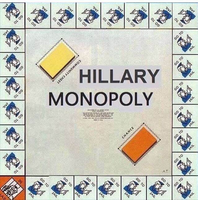 Hillary Clinton Monopoly game