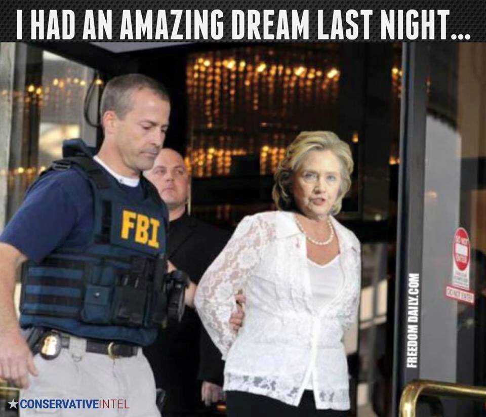 Hillary Clinton dream arrested