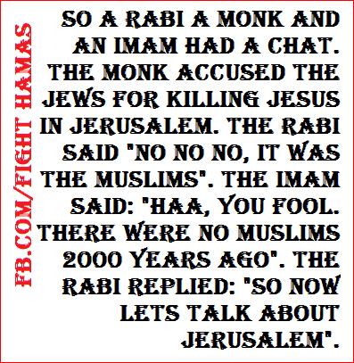 Israel Jerusalem Palestinians joke