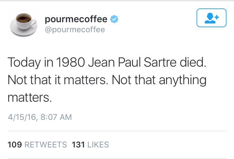 Silly Sartre's death