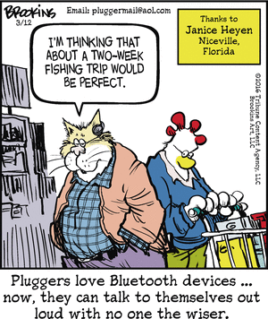 Silly bluetooth talking to oneself