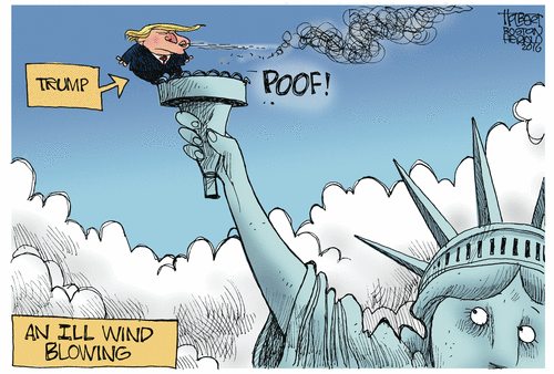 Trump blows out Statue of Liberty's light