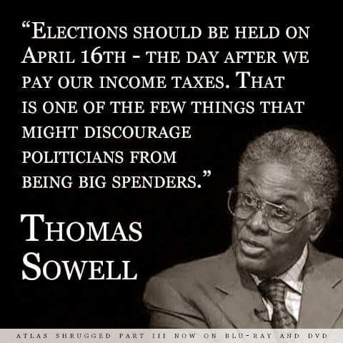 Wisdom Sowell on holding elections on April 16