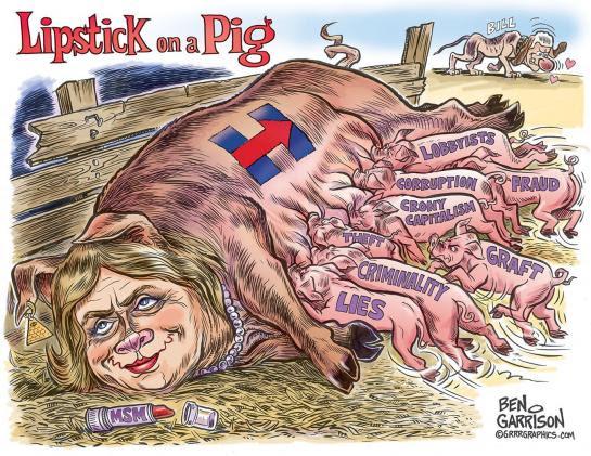 Hillary lipstick on a pig