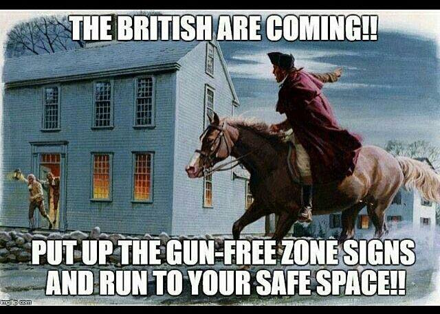 Stupid liberals Paul Revere ride