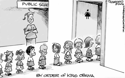Transgender bathrooms bad little boy