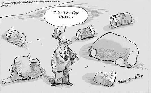 Trump calls for unity