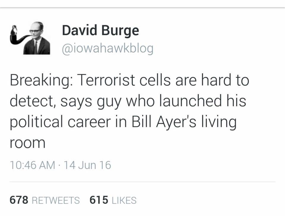 Obama terrorism Bill Ayers