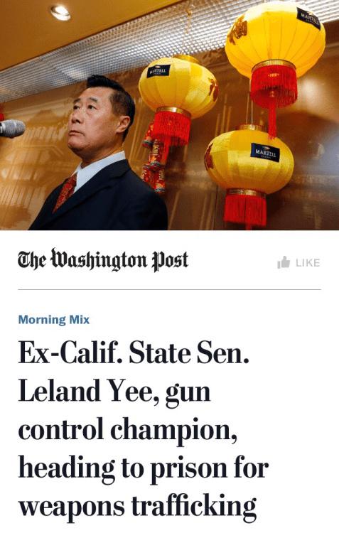 Guns Leland Yee anti-gun weapons trafficking
