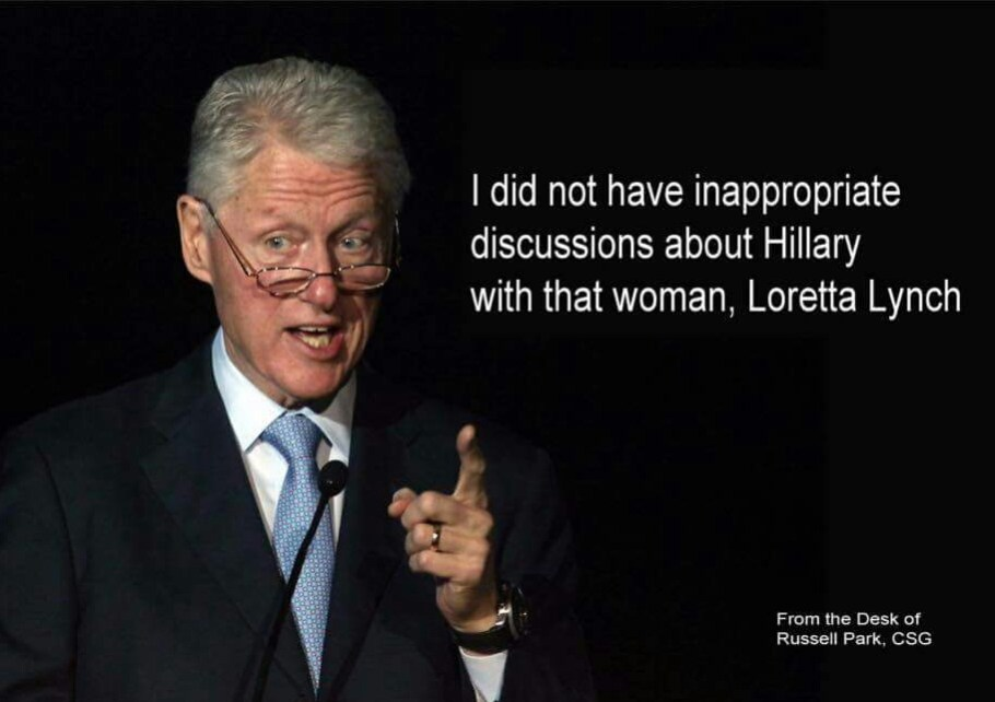 Hillary Bill Clinton didn't have inappropriate discussions with Lynch