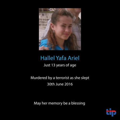 Israel Hallel Yaffa Ariel murdered by Palestinian