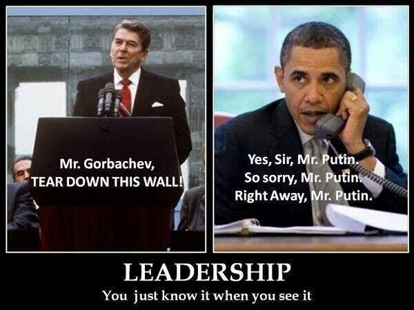 Obama versus Reagan for leadership