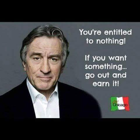 Wisdom no entitlements earn things