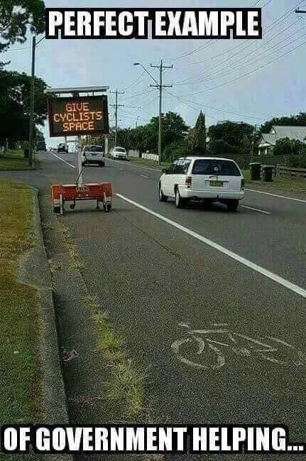 Government helping bicyclists