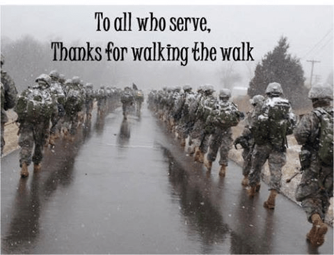Military thank you