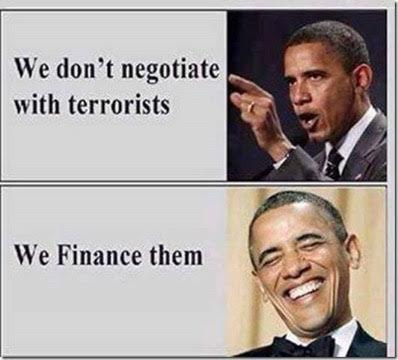 Muslims Obama funds terrorism