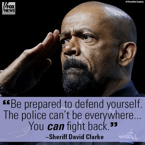 Gun self defense Sheriff David Clarke