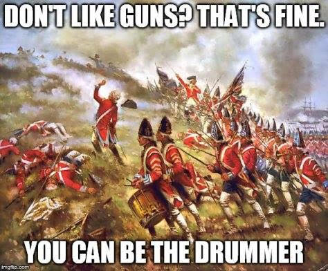 Guns don't like be drummer