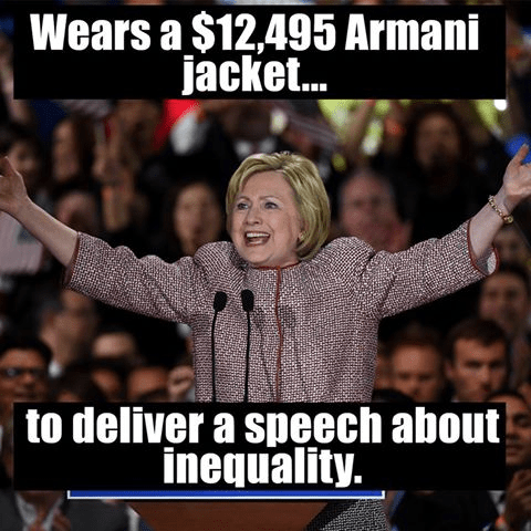 Hillary 12,000 dollar jacket for speech about inequality