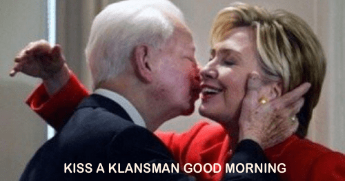 Hillary and Robert Byrd