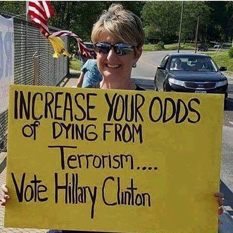 Hillary increase odds of dying from terrorism