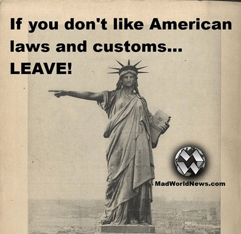 Immigration if you don't like us leave