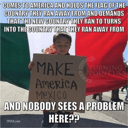 Immigration immigrants trying to convert America into Mexico crazy