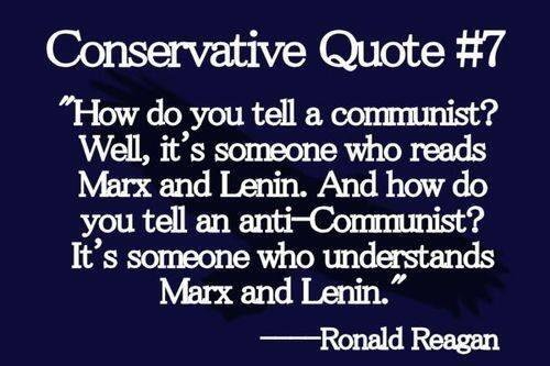 Socialism Reagan on Marx and Lenin