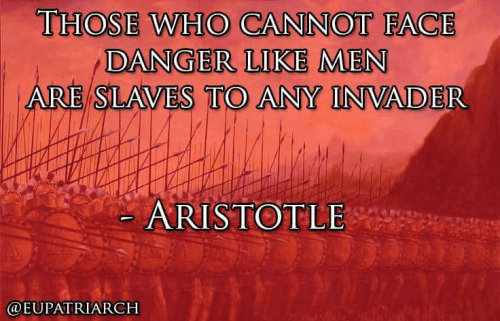 Wisdom Aristotle on danger and slavery