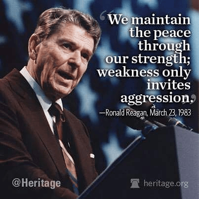 Wisdom Reagan on strength repels aggression