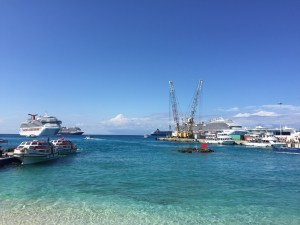 A fascinating view of George Town in the Grand Caymans