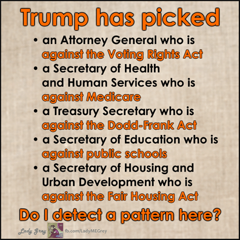 The great things about Trump's Cabinet picks