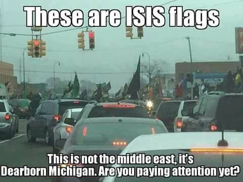 islam-isis-flags-in-dearborn