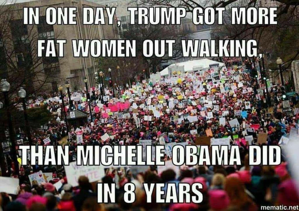 trump-got-fat-women-walking