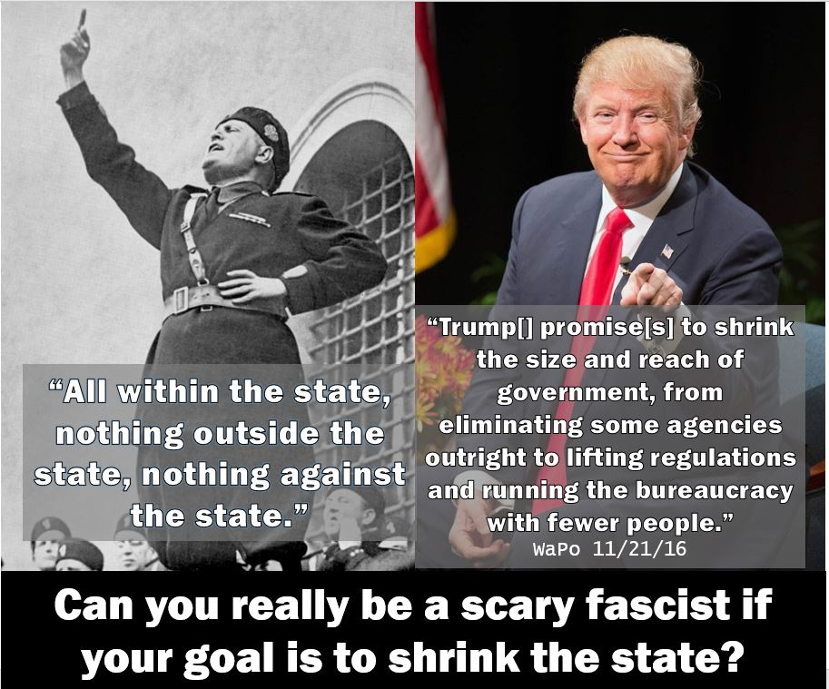 Trump fascist fascism Google misdefines