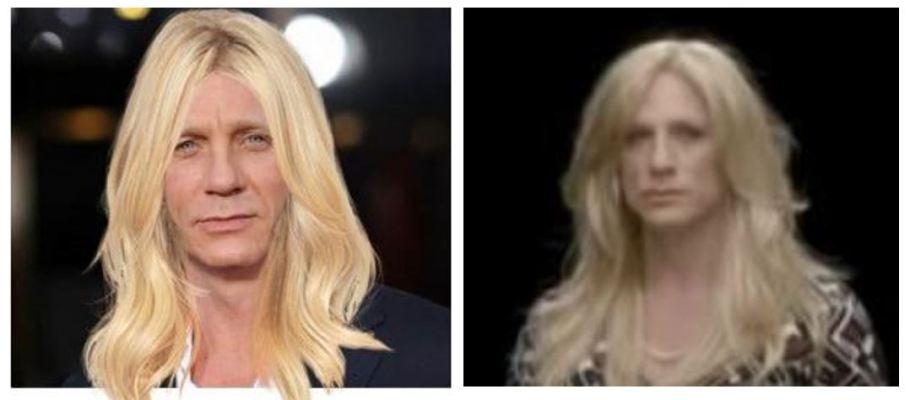 Daniel Craig two wigs